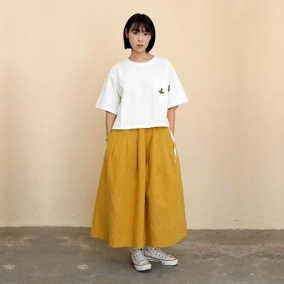 Mia Linen Long Skirt Mustard