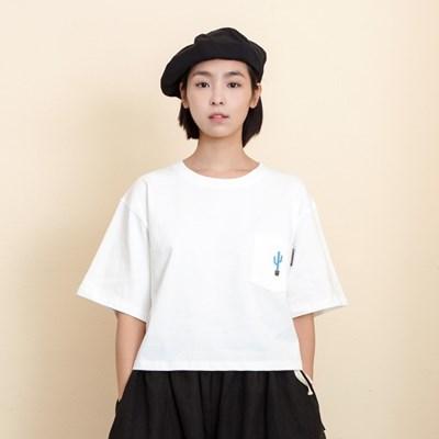 Woman Cactus Pocket T-Shirts
