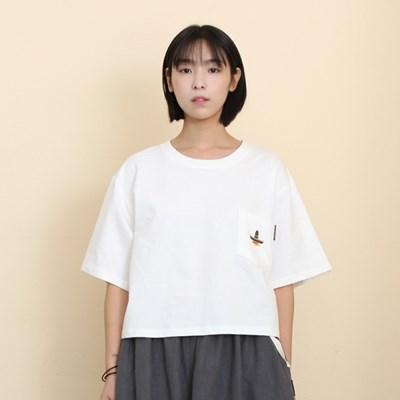 Woman Sombrero Pocket T-Shirts