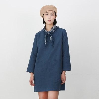 Emily Linen Dress Vintage Blue