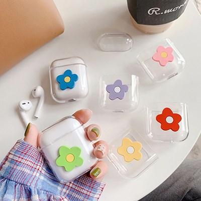 꽃 플라워 투명 에어팟케이스 에어팟 1,2세대 예쁜케이스