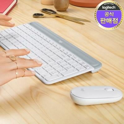 로지텍 코리아 MK470 슬림 무선 키보드 마우스 Set