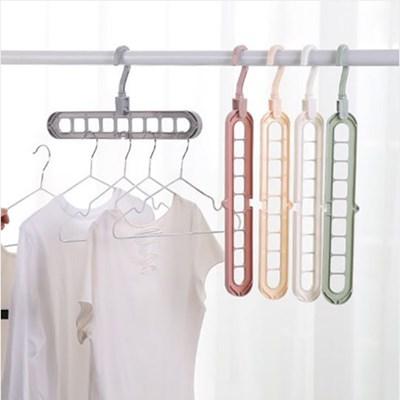 옷장전용 공간절약 옷걸이 펼쳐모아 4개 세트_(380565)