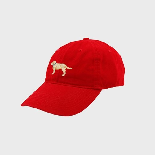 [Smathers&Branson]Adult`s Hats YellowLab on Red