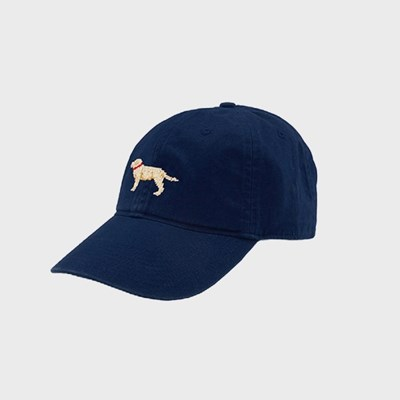 [Smathers&Branson]Adult`s Hats YellowLab on Navy