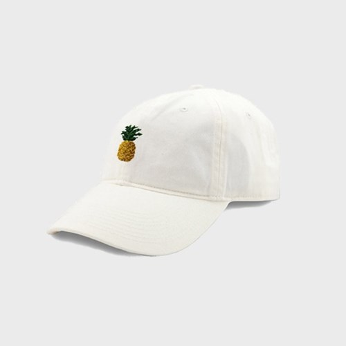 [Smathers&Branson]Adult`s Hats Pineapple on White