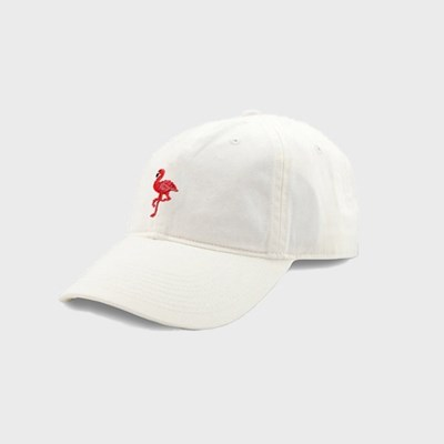 [Smathers&Branson]Adult`s Hats Flamingo on White