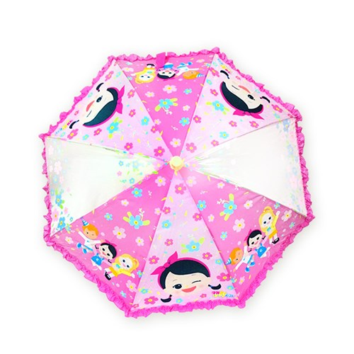 캐리 프릴 연핑크 아동용 우산_(2084626)