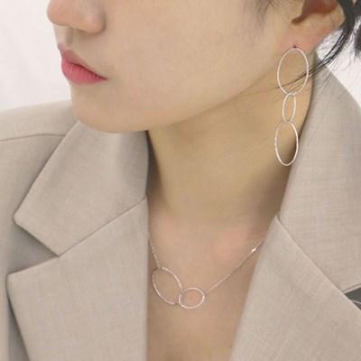 [92.5실버 드롭 귀걸이] 나잇 이어링