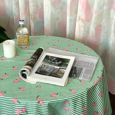 온더플라워씨리얼 그린 식탁보 테이블보 2size 테이블러너