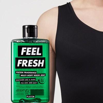 멀티바디워시 FEEL FRESH + 보정속옷 플렉스팩 나시 블랙 M/L