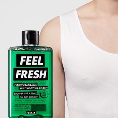 멀티바디워시 FEEL FRESH + 보정속옷 플렉스팩 나시 화이트 M/L