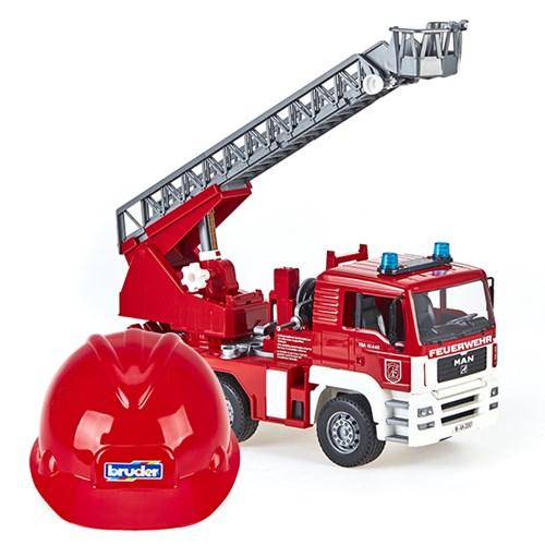 브루더 MAN 소방차 + 헬멧 세트_(301803402)