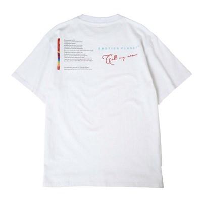 올 레터링 티셔츠 WHITE