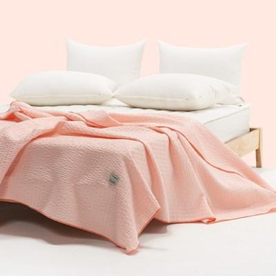 [플란뉴] 항균 리미니 4color 3중직 선염 시어서커 여름이불 핑크