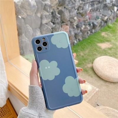 블루 파스텔 구름 아이폰 카메라 보호케이스