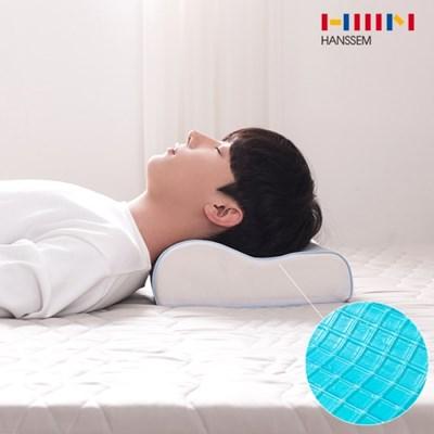 [한샘X생활상점] 쿨젤 메모리폼 여름 숙면베개_(993094)