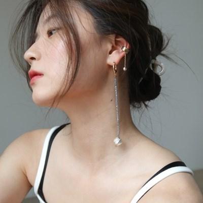 planet drop single earring