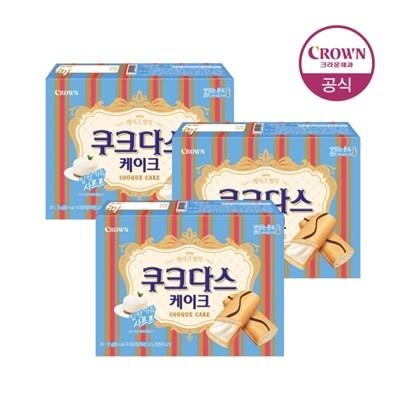 크라운 쿠크다스 케이크 70g 3개_(1787837)
