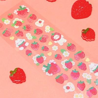 트윙클 딸기파티 칼선 스티커