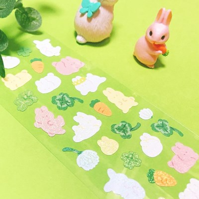 트윙클 토끼와 클로버 칼선 스티커