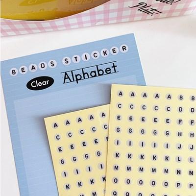 Beads Sticker 비즈스티커-알파벳(투명)
