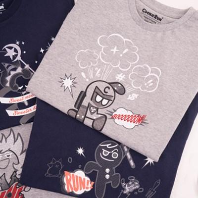 쿠키런 카툰 티셔츠 4종