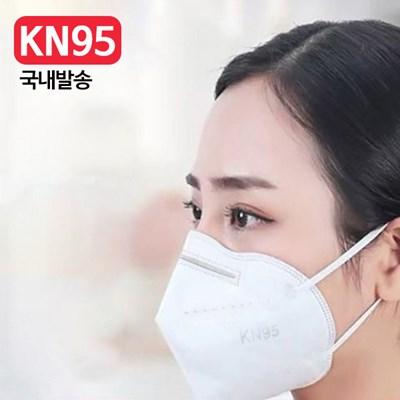 [국내발송] 3D 입체 성인용 KN95 위생 마스크 10매_(892266)