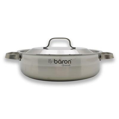 BARON 스텐 통3중 전골 냄비 24cm 양수