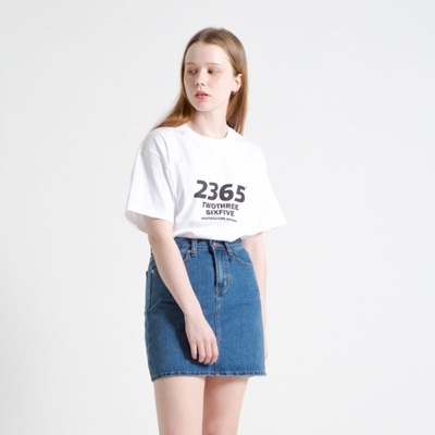 23.65 OBILQUELINE LOGO HALF T-SHIRTS WHITE