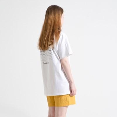 23.65 GRADATION LOGO HALF T-SHIRTS WHITE