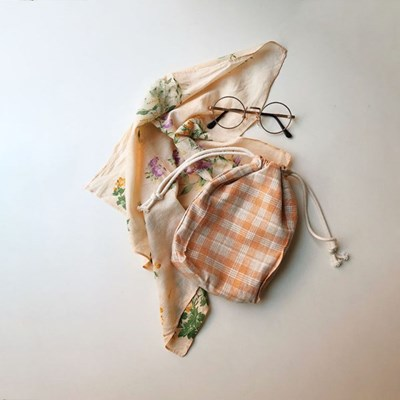 anemone pouch - orange