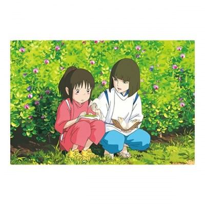 [센과 치히로의 행방불명] 엽서(먹방)-하쿠의 주먹밥
