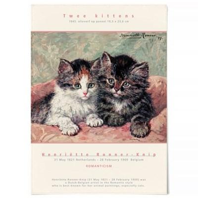 패브릭 천 포스터 F331 동물 그림 아이방 액자 고양이 A