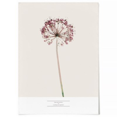 패브릭 천 포스터 F328 식물 꽃 그림 액자 허브 차이브