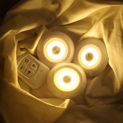 붙이는 LED 조명 무드등 [리모컨 롱거 퍽 셀프 간접 라이트 수유등]
