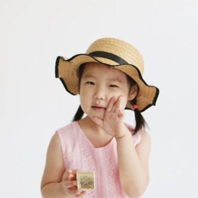 여성 왕골모자 밀짚모자 여름모자 모자[SB-11 미니 물결리본 왕골햇]