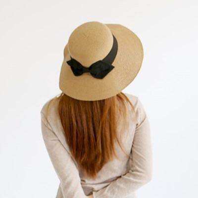 여성 왕골모자 밀짚모자 여름모자 모자[SW-4 베이직 리본 왕골햇]