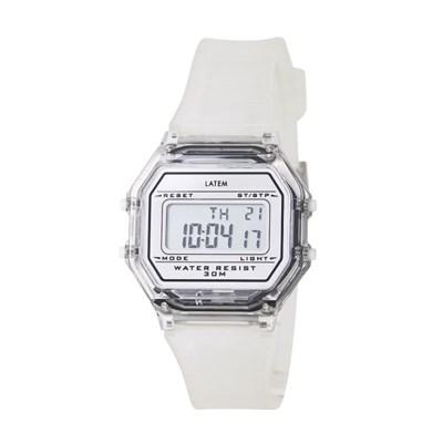 [파우치+키링증정] 베이직 디지털 러버 시계_투명(AG2G0702DAWW)