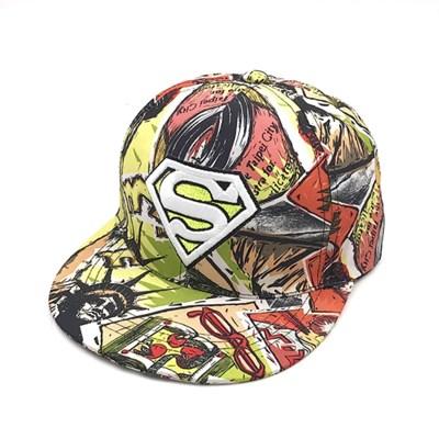 남자 슈퍼맨 스냅백-그린 패션 여자 모자 공용