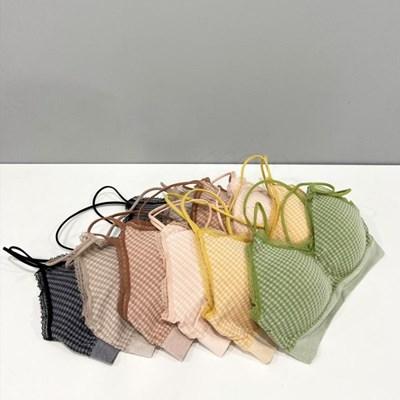 2855 엑스끈 체크 브라렛(6colors)