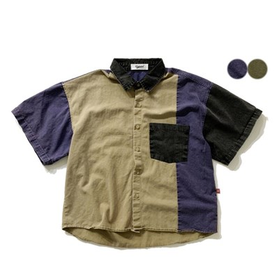 피그먼트 블럭 셔츠 PIGMENT BLOCK SHIRTS(2color)