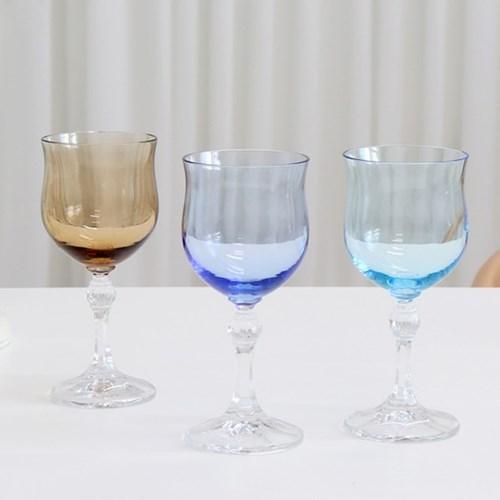 크리스탈볼 컬러 고블렛 와인잔 유리컵 샴페인잔