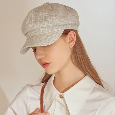boni newsboy cap - mix light blue
