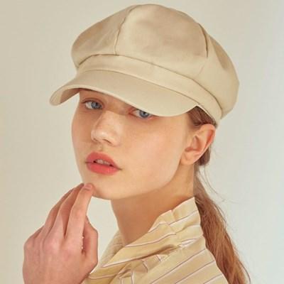 boni newsboy cap - cotton light beige