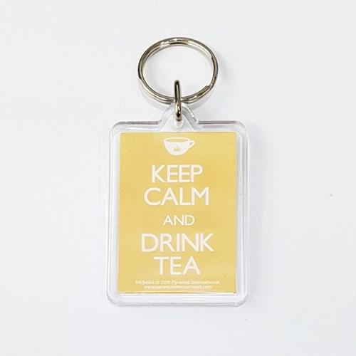PK5484 아크릴 키링 KEEP CALM AND DRINK TEA_(1205927)