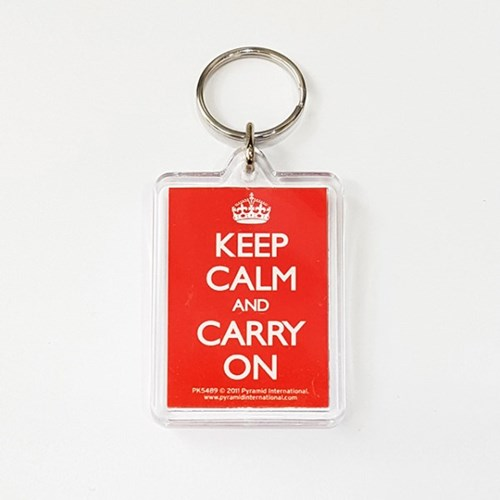 PK5489 아크릴 키링 KEEP CALM AND CARRY ON (RED)_(1205928)