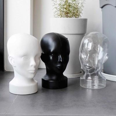 남녀공용 플라스틱 얼굴모형 머리마네킨 두상마네킹