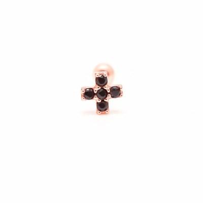 [오팔하우스]14k 십자가 블랙큐 피어싱