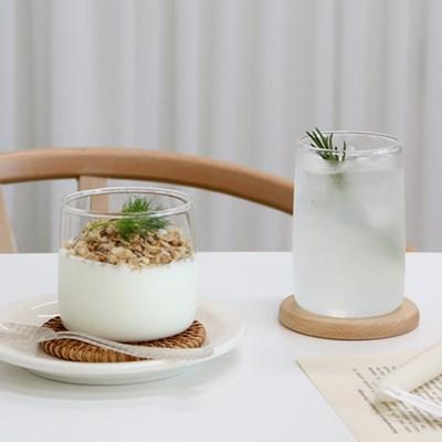 스퀘어 유리컵 홈카페 내열 유리컵 커피잔